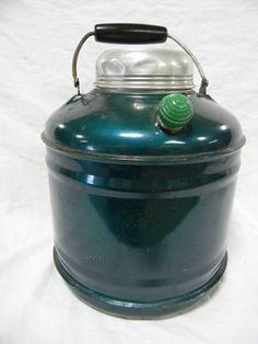 Vintage Ceramic Lined Metal Thermos Jug