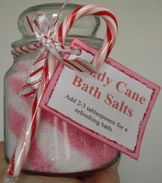 Candy Cane Bath Salts. Could include with story of the candy cane
