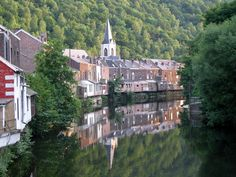 Chaudfontaine, province of Liège, Belgium, has warm water springs. Chaudfontaine is a Belgian water label with the same name that's been sold all over the world. The iconic town of Spa is not far from here.