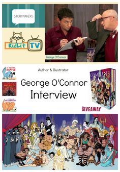 KidLit TV interviews George O'Connor, author and Illustrator.  Watch him create a new Superhero, LIVE on set!  PLUS Enter to win original art from George O'Connor and  signed book with a special illustration inside!
