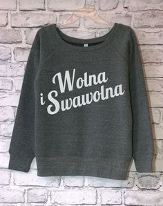SWAWOLNA Off-Shoulder Sweatshirt