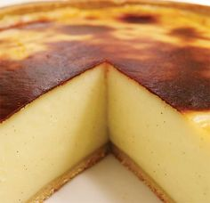 recipes : Parisian Flan (French Custard Pie)Ricardo's recipes : Parisian Flan (French Custard Pie) This retro cake will flip your taste buds upside-down. Pastry Recipes, Pie Recipes, Cooking Recipes, Cuban Recipes, Steak Recipes, Family Recipes, Chicken Recipes, Flan Dessert, Flan Cake