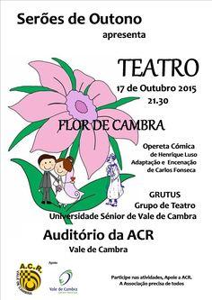 Teatro: Flor de Cambra > 17 Out 2015, 21h30 @ Auditório da ACR, Vale de Cambra