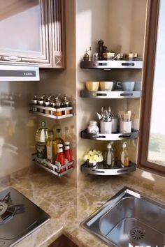 Kitchen Pantry Design, Modern Kitchen Design, Home Decor Kitchen, Interior Design Kitchen, Home Kitchens, Kitchen Ideas, Kitchen Wall Design, Kitchen Hacks, Kitchen Organization Wall