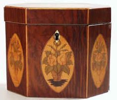 Partridge Wood Veneered Tea Caddy -c 1790