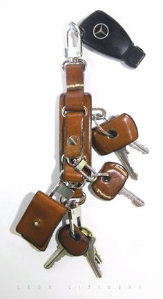 Leather Key Chain, by Leon Litinsky.