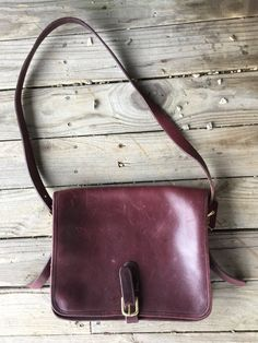 0692d6d9e0a4 Coach saddlebag oxblood by HashbrownHaberdasher on Etsy Vintage Coach