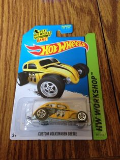 "HOT WHEELS CUSTOM VOLKSWAGEN VW BEETLE ""MOON EYES"" K/L CASE MIX #247 for 2014 !! #HotWheels #Volkswagen"