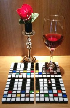 Piano Mosaic Art Coasters Set of 4 by MaryJosephineMosaics
