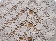Shop for on Etsy, the place to express your creativity through the buying and selling of handmade and vintage goods. Lace Weddings, Wedding Dresses, Wedding Fabric, Green Lace, Irish Crochet, Cotton Lace, Lace Fabric, Embroidery, Sewing