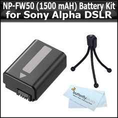 SLT A33 Digi Ac//Dc Rapid Battery Charger DSLR SLT A55 NEX- Essential Two Pack Battery and Charger Kit includes 2 Replacement Extended NP-FW50 Batteries Mini Tripod NEX-3 Digi Pro Camera Cleaning Kit For Sony Alpha A55 LCD Screen Protectors A33