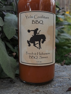 Peach Habanero BBQ sauce
