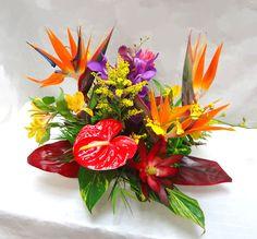 hawaiian centerpieces  | OF PARADISE CENTERPIECE $75 A truly colorful assortment of Hawaiian ...