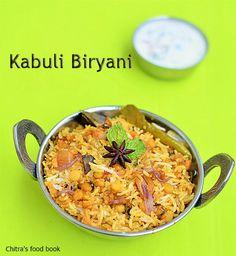 Chitra's Food Book: Kabuli Biryani Recipe-Hyderabadi Chana Dal(Qabooli...
