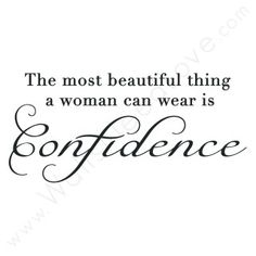 Confidence Wall Quote Wall Decal