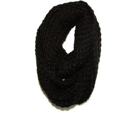 Paula Bianco Chunky Infinity Scarf in Black ($62) ❤ liked on Polyvore featuring accessories, scarves, bufandas, black black, scarves & shawls, women, round scarf, chunky scarves, infinity scarves y chunky infinity scarf