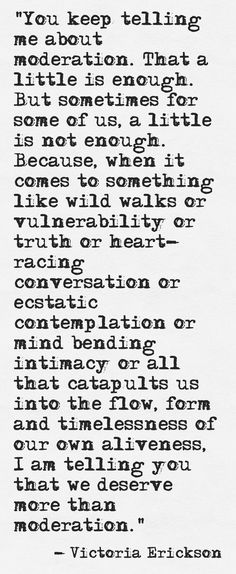 { INFP } more than moderation.