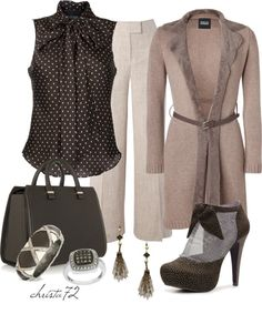 """Long Cardigan"" by christa72 ❤ liked on Polyvore"