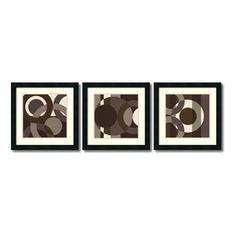 "18 in. W x 18 in. H Each ""Circa Cibonne Como - Set of 3"" by Denise Duplock Framed Art Print"
