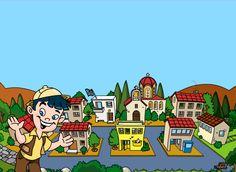 Η μικρή μας πόλη - Παριστάνουμε τον τόπο μας - Διαδραστικό online εκπαιδευτικό παιχνίδι για τη Μελέτη Γ' Δημοτικού         -          ΗΛΕΚΤΡΟΝΙΚΗ ΔΙΔΑΣΚΑΛΙΑ Foundation, Greek, Foundation Series, Greece