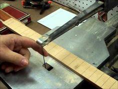 part 2 Cigar box guitar neck building - YouTube