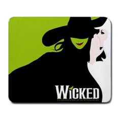 """Mousepad - WICKED New Musical Broadway Witches Of OZ Optical Gaming Large Mouse Pad Mat New 9.25"""" x 7.75"""" on Etsy, $7.99"""