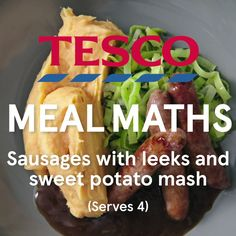 Caramelised leeks and smooth sweet potato mash pair perfectly with chipolata sausages in this super-speedy midweek supper. This 5-ingredient Meal Maths recipe is quick and easy to make, packed with seasonal ingredients and rounded off with a rich onion and shallot gravy. | Tesco