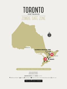 Zombie Safe Zone Map of Toronto | Design Different