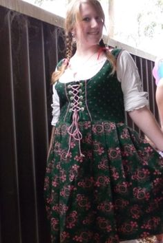 As a cute little German girl! (That dress is actually german, and I got it from an opshop for $3!)
