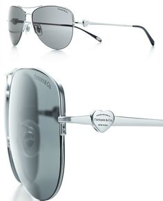 eb381a0be2 Return to Tiffany™ aviator sunglasses with silver-colored embellishment -