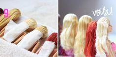 Les poupées se retrouvent toujours avec les cheveux emmêlés! Et qui les démêle? Maman et papa! Évidemment... C,est une tâche beaucoup trop difficile pour les petits! Mais nous! Comme si nous n'avions que ça à faire, démêler des cheveux de poupée et d