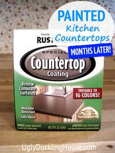 ... countertops and floors months later painted kitchen countertops and