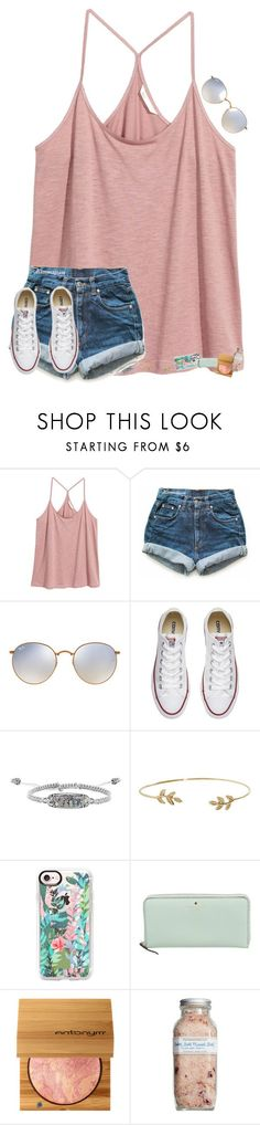•for beauty is found within• by mackenzielacy814 on Polyvore featuring HM, Levis, Ray-Ban, Converse, Kendra Scott, Humble Chic, Casetify, Kate Spade and Farmaesthetics