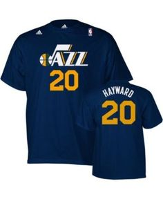 adidas Men's Gordon Hayward Utah Jazz Player T-Shirt - Blue XXL