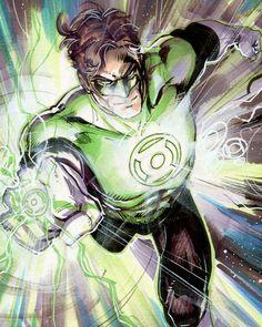 Green Lantern (I'm not generally a GL fan, but this art is fantastic)..(it is pretty fantastic.--JS/HD)