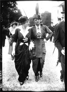 ๑ Nineteen Fourteen ๑ historical happenings, fashion, art & style from a century ago - Longchamps, 1914