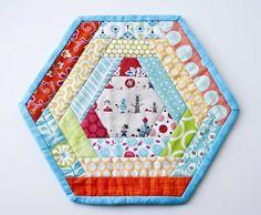 Hexagon Mug Rug - Mug Rug Swap Round 4 | Flickr - Photo Sharing!