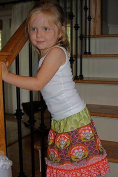 Lila Skirt (18m, 2t, 4t, & 6). $32.00, via Etsy.