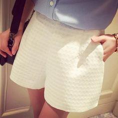 New Europe Fashion Plaid Shorts High-Waist Shorts - LavishPursuit