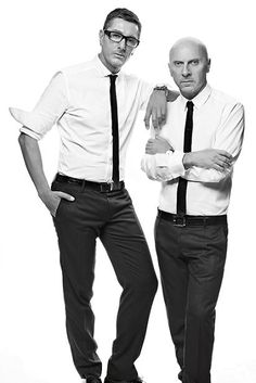 Designers Domenico Dolce and Stefano Gabbana Urban Fashion, High Fashion, Stefano Gabbana, Italian Fashion Designers, Hollywood Life, Italian Style, Piece Of Clothing, Sexy Men, Fashion Outfits