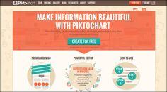 Piktochart能夠幫助沒有設計經驗的用戶,只用簡單的三個步驟便可創建、分享和得到信息圖。  http://piktochart.com/