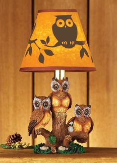 TABLE LAMP HOME, OFFICE, OR DEN DECORWOODLAND OWL BEAUTIFUL COUNTRY HOME DECOR #Country