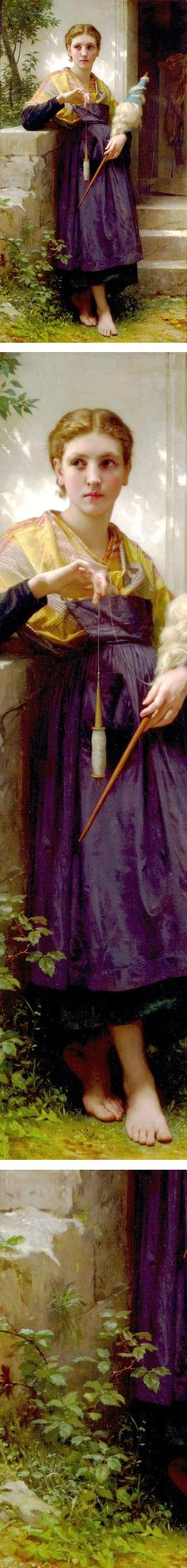 The Spinner, William-Adolphe Bouguereau, WikiPaintings
