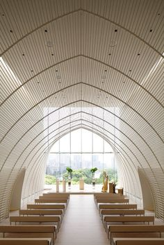 Palace Hotel Tokyo chapel, can someone please get married here ? Really wanna see the view up there.