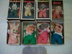 vintage animal matchbox beanie dolls (03/14/2012)