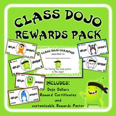 If you use Class Dojo in your classroom, this is a great set for reinforcement. If you're not using Class Dojo, you should be! Check it out at http://www.classdojo.com/. This pack includes items to help motivate your students even more (kids already LOVE Class Dojo).