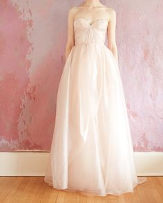 This Sarah Seven dress is so whimsical and delicate!