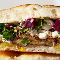 Roasted Eggplant and Pickled Beet Sandwiches Recipe