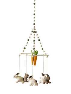 Tiny Bunny Mobile | Cot Mobile | Baby Mobile | Crab and The Fox