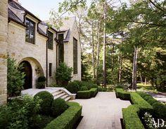 The manicured terrace of an Atlanta home
